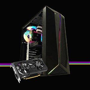 Computador Megatumi Gamer Dark Intel RGB I3 9100F, 8gb Ssd 480gb Gtx 1650