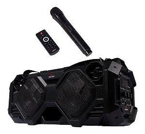 Caixa de Som Portátil 40w Rms USB + Microfone Sem Fio + Bluetooth
