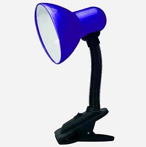 Luminária Articulável com Presilha Azul Eco's - SK18472-AZ