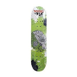 Skate Caveira para Iniciante Completo Madeira 80 cm - Verde