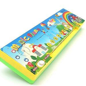 Teclado Piano Infantil - Amarelo e Verde