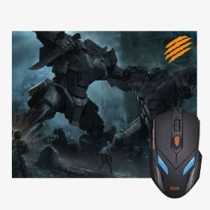 Combo Mouse 2400dpi e Mousepad Gamer War Mc100 Oex
