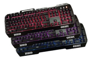 Teclado Gamer Usb Fusion Tc204 Antighost Led Abnt2 Oex