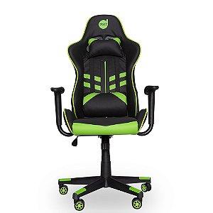 Cadeira Gamer Dazz Prime-X Preta e Verde Reclinável