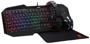 Combo Kit Gamer Led Starter- Mouse Teclado Headset MousePad