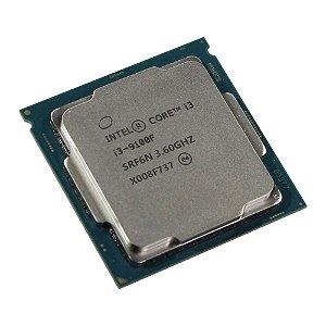 Processador Intel Core i3 9100F 3.6Ghz 9ª Geração