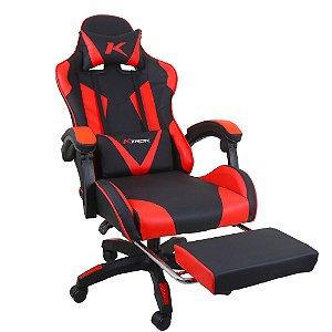 Cadeira Gamer Ktrok ProSeat Giratória Retrátil - Vermelha