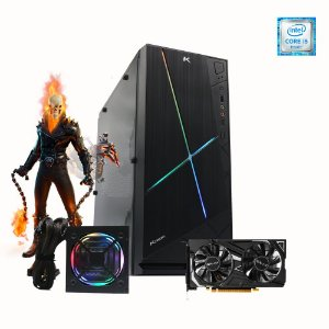 Pc Gamer Intel Fantasy I5-9400F 8gb SSD 480gb Placa Gtx 1650
