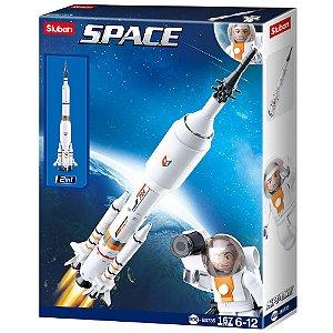 Bloco de Montar Astronautas Foguete 167 peças - BR1033