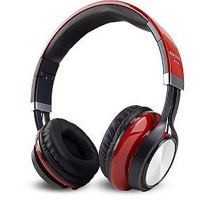 Headfone com Microfone para PC e Smartphone Vermelho