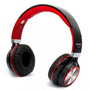 Headfone com Microfone para PC e Smartphone Preto e Vermelho