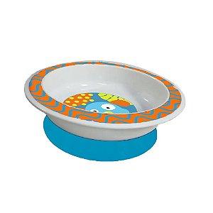 Prato com Ventosa azul - Funny Meal Multikids Baby