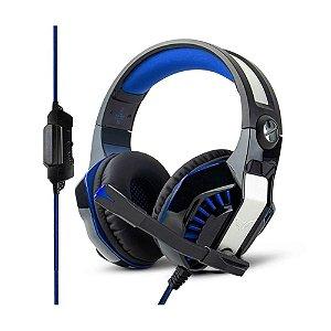 Headset Gamer com Led Azul - MultiPlataform - PS4/XBOX/PC