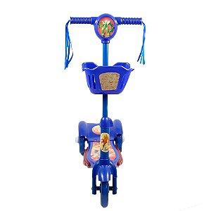 Patinete 3 Rodas Infantil Musical com Luzes até 5 anos Azul