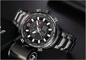Relógio Masculino Naviforce Inoxidável À Prova D' Água Ref-NF9093 B B W