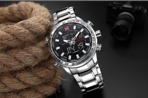 Relógio Masculino Naviforce Inoxidável À Prova D' Água Ref-NF9093 S B W