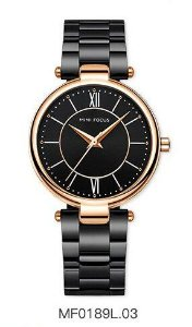 Relógio Feminino Mini Focus Mf0189l Original Preto - Dourado
