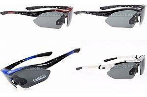 Óculos Ciclismo Rockbros 5 Lentes Uv Sendo 1 Polarizada