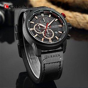 Relógio Curren 8291 Masculino Funcional - Black