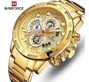Relógio Masculino Luxo Naviforce Original Nf9165