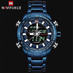 Relógio Masculino Naviforce Inoxidável À Prova D' Água Ref-NF9093 BE BE