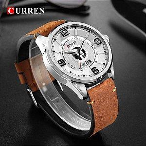 Relógio Curren 8305 Original de Luxo Com Calendário Pulseira de Couro
