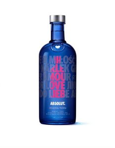 ABSOLUT VODKA LOVE SUECA 1L