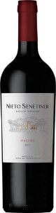 NIETO SENETINER ESTATE BOTTLED MALBEC VINHO ARGENTINO TINTO 750ML