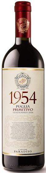 PRIMITIVO 1954 CANTINE PARADISO VINHO ITALIANO 750ML