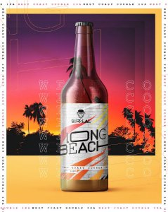 SURREAL DOUBLE IPA LONG BEACH GF 500ML