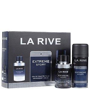 Kit Extreme Story Eau de Toilette Masculino 75ml - La Rive