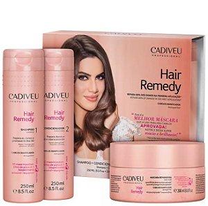 Kit Hair Remedy Cadiveu - Shampoo, Condicionador e Máscara