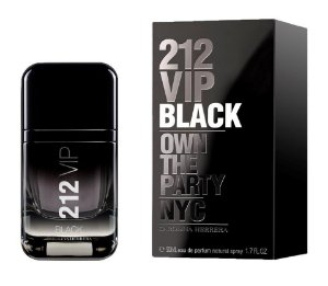 212 VIP Black Men Carolina Herrera EDP Masculino 50ml