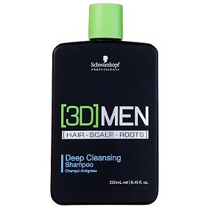 Shampoo Schwarzkopf 3DMENSION Antioleosidade 250ml