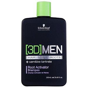 Shampoo 3D Ativador de Raízes - Schwarzkopf 250ml