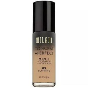 Base 2-in-1 Conceal+Perfect 03 Light Beige 30ml - Milani
