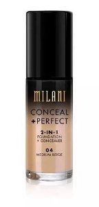 Base 2-in-1 Conceal+Perfect 04 Medium Beige 30ml - Milani