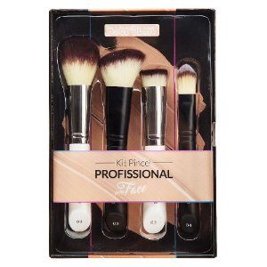 Kit Pincel para Maquiagem para Face WB200 4pçs - Macrilan