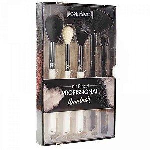 Kit Pincel de Maquiagem para Iluminar WB900 5pçs - Macrilan