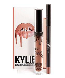 Batom Matte Líquido e Lápis Dirty Peach 2pçs - Kylie Jenner