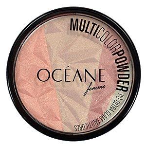 Iluminador Oceane Compacto Pó Ultra Glam Multicores 9,5g