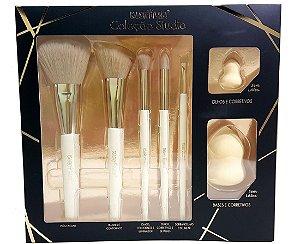 Kit Pincéis de Maquiagem Coleção Studio 7 Pçs - Macrilan