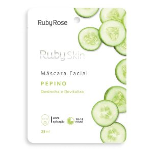 Máscara Facial Desincha e Revitaliza Pepino - Ruby Rose