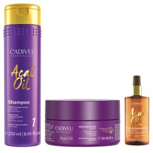 Kit Tratamento Capilar Açai Oil Home Care 3 pç - Cadiveu