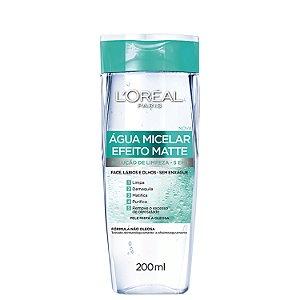 Água Micelar Efeito Matte 5 em 1 Loréal 200ml