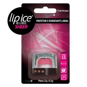 Protetor Labial Lip Ice Cube Sheer Framboesa - Mentholatum