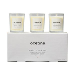 Kit 3 Velas Perfumadas Scented Candles - Océane