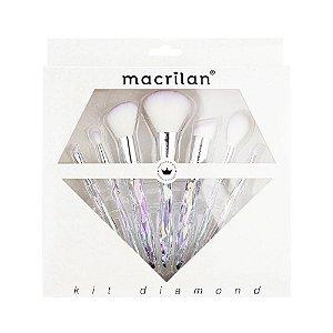 Kit Pincéis de Maquiagem Diamond ED003 7pçs - Macrilan