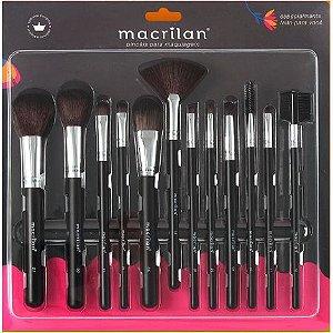 Kit Pincéis de Maquiagem 12 Peças - Macrilan