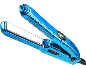 Prancha para cabelos Mini Titanium Blue 15mm Bivolt - MQ